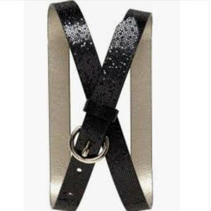 Banana Republic Black Skinny Glitter Belt